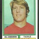 Atlanta Falcons Bill Sandeman 1974 Topps Football Card 238 ex