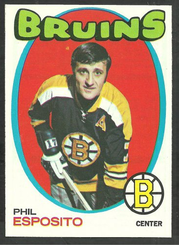 Boston Bruins Phil Esposito 1971 Topps Hockey Card 20 nr mt