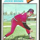 Cleveland Indians Jackie Brown 1977 Topps Baseball Card 147 ex