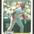 Cincinnati Reds Dave Parker 1985 Drakes Big Hitters Baseball Card 22