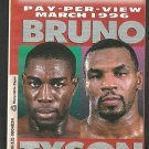 1996 Mike Tyson Frank Bruno WBC Heavyweight Championship Cover Photo PPV Promotional Brochure