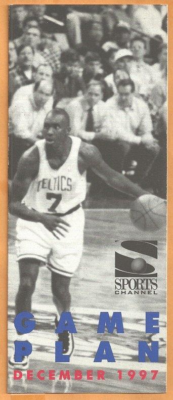 Boston Celtics Dee Brown Photo 1997 December Sports Channel Schedule Brochure