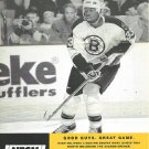 Boston Bruins Anson Carter October 1999 NESN Cable TV Schedule Flyer Boston Red Sox