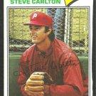 Philadelphia Phillies Steve Carlton 1977 Topps Baseball Card 110 trimmed