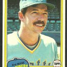 Seattle Mariners Bill Stein 1981 Topps Baseball Card 532 nr mt