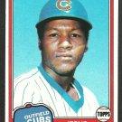 Chicago Cubs Jesus Figueroa 1981 Topps Baseball Card 533 nr mt