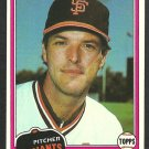 San Francisco Giants Tom Griffin 1981 Topps Baseball Card 538 nr mt