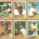 1985 Topps San Diego Padres Team Lot 31 diff Tony Gwynn Steve Garvey Rich Gossage Garry Templeton