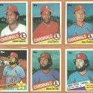 1985 St Louis Cardinals Team Lot 23 diff Ozzie Smith Bruce Sutter Joaquin Andujar Lonnie Smith