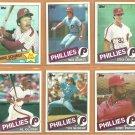 1985 Topps Philadelphia Phillies Team Lot 30 diff Mike Schmidt Steve Carlton Tug McGraw Al Oliver