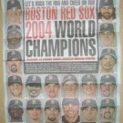 Boston Red Sox 2004 World Series Champions Newspaper Poster David Ortiz Manny Ramirez Curt Schilling