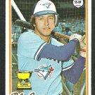 Toronto Blue Jays Bob Bailor 1978 Topps Baseball Card 196 nr mt