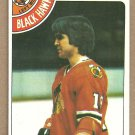 Chicago Blackhawks Darcy Rota 1978 Topps Hockey Card 47 vg