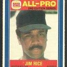 Boston Red Sox Jim Rice 1987 Burger King All Pro Baseball Card 16 ex-nm
