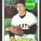 San Francisco Giants Bob Barton 1969 Topps Baseball Card 41 vg/ex