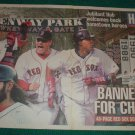 Boston Red Sox 2005 Newspaper Poster David Ortiz Curt Schilling Johnny Damon Manny Ramirez