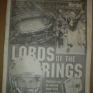 2002 New England Patriots Season Preview Supplement Tom Brady Lords of the Rings