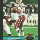 New England Patriots Tom Hodson 1991 Topps Stadium Club Football Card 302