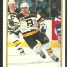 Boston Bruins Stephen Leach 1991 OPC Premier Hockey Card O Pee Chee 12
