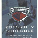 ECHL Charleston South Carolina Stingrays 2016 2017 Pocket Schedule