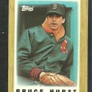 Boston Red Sox Bruce Hurst 1987 Topps Mini Baseball Card 43