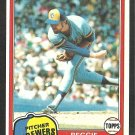 Milwaukee Brewers Reggie Cleveland 1981 Topps Baseball Card 576 nr mt