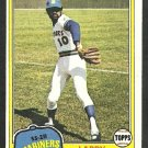 Seattle Mariners Larry Milbourne 1981 Topps Baseball Card 583 nr mt