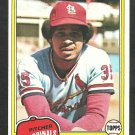 St Louis Cardinals Silvio Martinez 1981 Topps Baseball Card 586 nr mt