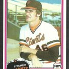 San Francisco Giants Gary Lavelle 1981 Topps Baseball Card 588 nr mt