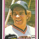 Detroit Tigers Steve Kemp 1981 Topps Baseball Card 593 nr mt