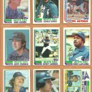 1982 Topps Chicago White Sox Team Lot 27 diff Harold Baines Greg Luzinski Chet Lemon Ron LeFlore