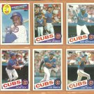 1985 Topps Chicago Cubs Team Lot 17 Ryne Sandberg Lee Smith Ron Cey Gary Matthews Shawon Dunston RC