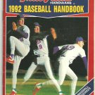 True Value 1992 Baseball Handbook