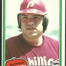 Philadelphia Phillies George Vukovich 1981 Topps Baseball Card 598 nr mt
