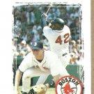 1997 Boston Red Sox Pocket Schedule Miller Lite Beer Mo Vaughn Tim Naehring