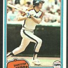 Houston Astros Craig Reynolds 1981 Topps Baseball Card 617 nr mt