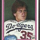 Los Angeles Dodgers Bob Welch 1981 Topps Baseball Card 624 nr mt