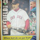 Boston Red Sox Tim Wakefield 2004 Newspaper Poster