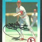 St Louis Cardinals John Tudor Autograph Signed 1987 Fleer Baseball Card 310