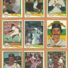 1982 Donruss Boston Red Sox Team Lot 26 Carl Yastrzemski Jim Rice Tony Perez Dennis Eckersley