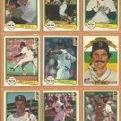1982 Donruss Boston Red Sox Team Lot 26 Carl Yastrzemski Jim Rice Tony Perez Dennis Eckersley