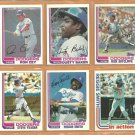 1982 Topps Los Angeles Dodgers Team Lot 15 Ron Cey Rick Sutcliffe Dusty Baker Dave Lopes Reg Smith