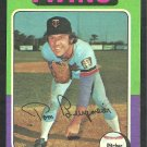 Minnesota Twins Tom Burgmeier 1975 Topps Baseball Card 478 ex