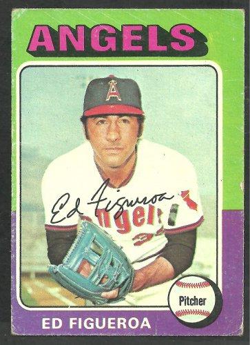 California Angels Ed Figueroa 1975 Topps Baseball Card 476 good