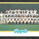 Kansas City Royals Team Card 1978 Topps Baseball Card 724 nr mt