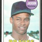 Atlanta Braves Sonny Jackson 1969 Topps Baseball Card 53 nr mt