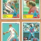 1983 Topps Philadelphia Phillies Team Lot 16 Pete Rose Steve Carlton Garry Maddox Larry Christenson