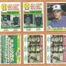 1979 Topps Atlanta Braves Team Lot 23 Hank Aaron Phil Niekro Jeff Burroughs Gary Matthews