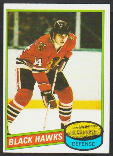 Chicago Black Hawks Mike O'Connell 1980 Topps Hockey Card 61 ex
