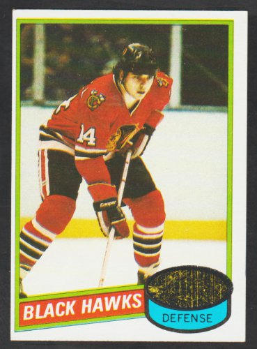 Chicago Black Hawks Mike O'Connell 1980 Topps Hockey Card 61 ex/em
